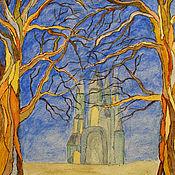 """Картины и панно ручной работы. Ярмарка Мастеров - ручная работа Акварель """"В забытом лесу"""". Handmade."""