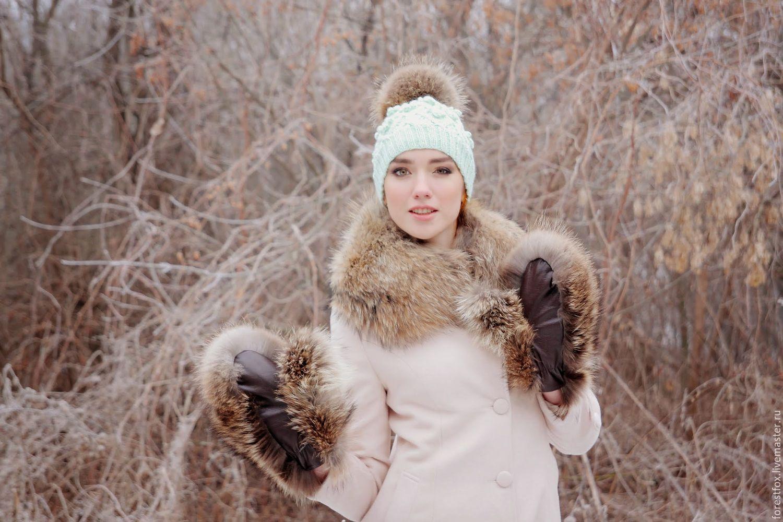 Меховые варежки из енота, Варежки, Москва, Фото №1