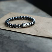 Украшения handmade. Livemaster - original item Bracelet Bear hematite medical steel. Handmade.
