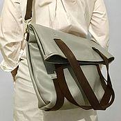 Сумки и аксессуары handmade. Livemaster - original item Leather shopper bag. Handmade.