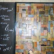 Для дома и интерьера ручной работы. Ярмарка Мастеров - ручная работа Деревянное панно+ грифельная доска. Handmade.