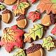 Кулинарные сувениры ручной работы. Заказать Осень золотая. Листопад. Пряники.. Пряничное кружево. Ярмарка Мастеров. Разноцветный, осень, листопад