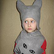 """Работы для детей, ручной работы. Ярмарка Мастеров - ручная работа Шапочки и шарфик """"Милый котик"""". Handmade."""