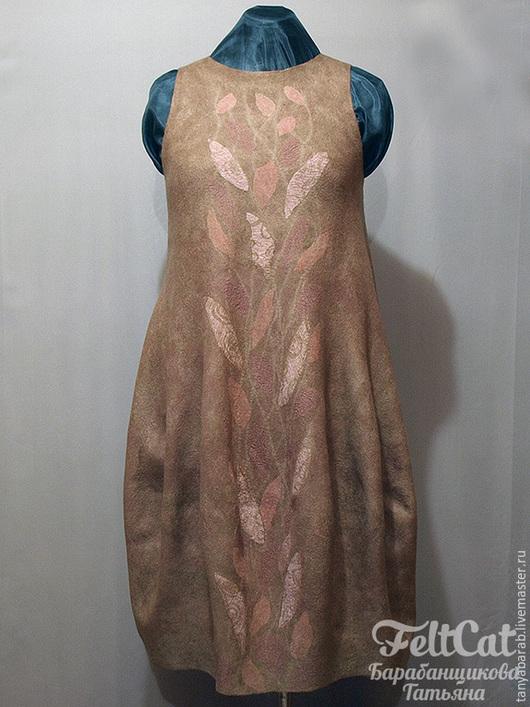 """Платья ручной работы. Ярмарка Мастеров - ручная работа. Купить Платье - сарафан """" Вьюнок"""" войлок ( баллон). Handmade."""