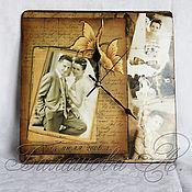 Часы классические ручной работы. Ярмарка Мастеров - ручная работа Эксклюзивные часы с фото в стиле Ретро. Handmade.