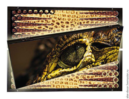 Настольные игры ручной работы. Ярмарка Мастеров - ручная работа. Купить Эксклюзивные нарды LIZARD (серия S). Handmade. Комбинированный