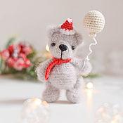 Сувениры и подарки handmade. Livemaster - original item New Year`s bear, interior toy bear for the new year. Handmade.