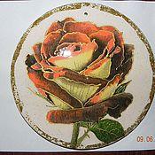 """Картины и панно ручной работы. Ярмарка Мастеров - ручная работа Гипсовое панно """"Золотая роза"""". Handmade."""
