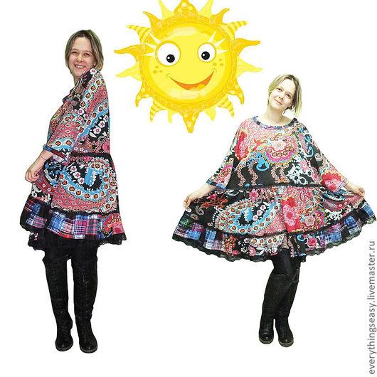 Платья ручной работы. Ярмарка Мастеров - ручная работа. Купить РОМАНТИКА платье в корейском стиле большой размер. Handmade. Пейсли, большой размер