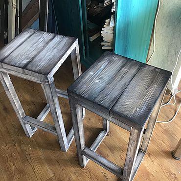 Мебель ручной работы. Ярмарка Мастеров - ручная работа Табурет барный лофт. Стулья барные лофт. Высокие стулья.. Handmade.