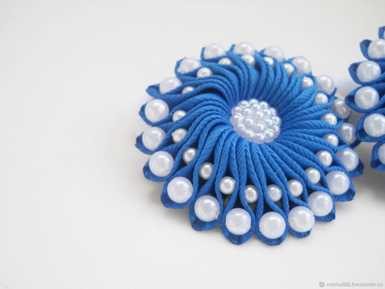 Резинки для волос Завитки, для девочки, синий, школьные
