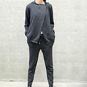 Одежда handmade. Livemaster - original item Women`s cashmere suit Grafit. Handmade.