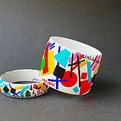Украшения handmade. Livemaster - original item Cuff bracelet: Malevich Russian avant garde wooden bracelet. Handmade.