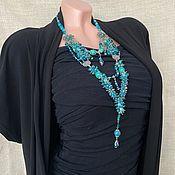 Украшения handmade. Livemaster - original item Necklace: Stylish necklace with natural stones, elegant decoration. Handmade.