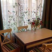 """Для дома и интерьера ручной работы. Ярмарка Мастеров - ручная работа Вышивка на шторе """"Лето"""". Handmade."""