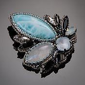 Украшения handmade. Livemaster - original item blue. Blue larimar and adular brooches to order.. Handmade.