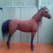 Куклы и игрушки ручной работы. Ярмарка Мастеров - ручная работа Тёмно-гнедая лошадь.. Handmade.