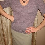Одежда ручной работы. Ярмарка Мастеров - ручная работа пуловер с пуговичкой. Handmade.