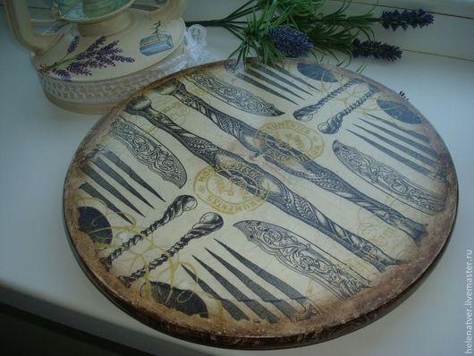 Кухня ручной работы. Ярмарка Мастеров - ручная работа. Купить Французская сырная тарелка. Handmade. Бежевый, Декупаж, поднос