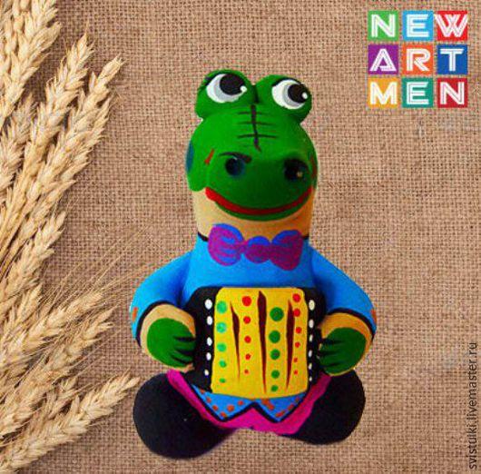 Сказочные персонажи ручной работы. Ярмарка Мастеров - ручная работа. Купить Свистулька Крокодил Гена. Handmade. Зеленый, крокодил гена