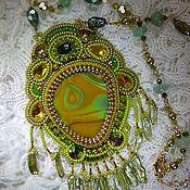 Украшения handmade. Livemaster - original item Pendant-agate pendant