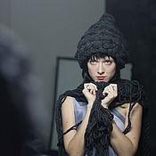 Аксессуары ручной работы. Ярмарка Мастеров - ручная работа Теплая шапочка из очень пухлой шерсти. Handmade.