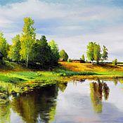 Картины и панно handmade. Livemaster - original item Oil painting Rodnie mesta Vladimir Chernov. Handmade.