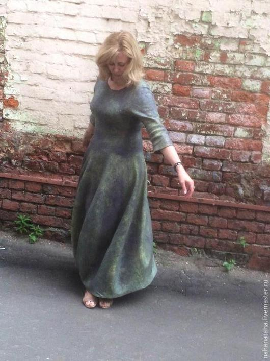 """Платья ручной работы. Ярмарка Мастеров - ручная работа. Купить Платье валяное """"Ирис"""". Handmade. Платье, необычное платье"""