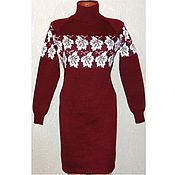 Одежда handmade. Livemaster - original item Knitted dress sweater Maple leaf. Handmade.