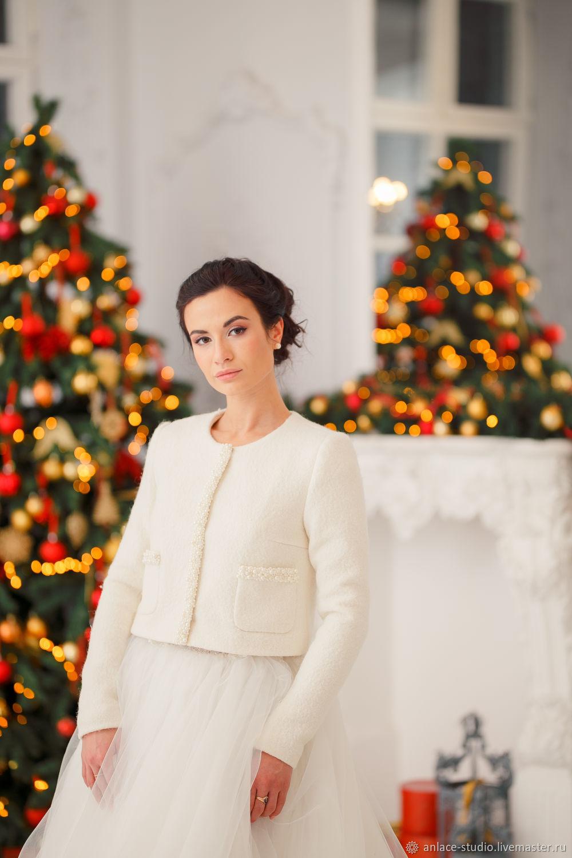 Свадебное Пальто Белое Женское Пальто «Белла К», Накидки, Москва,  Фото №1