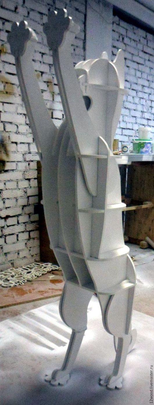 """Мебель ручной работы. Ярмарка Мастеров - ручная работа. Купить Полка """"Кот"""". Handmade. Белый, фанера"""