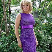 """Одежда ручной работы. Ярмарка Мастеров - ручная работа Платье """"Фиолетовый луч"""". Handmade."""