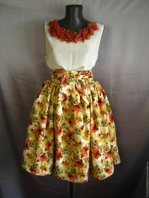 Как сшить летнее платье с пышной юбкой