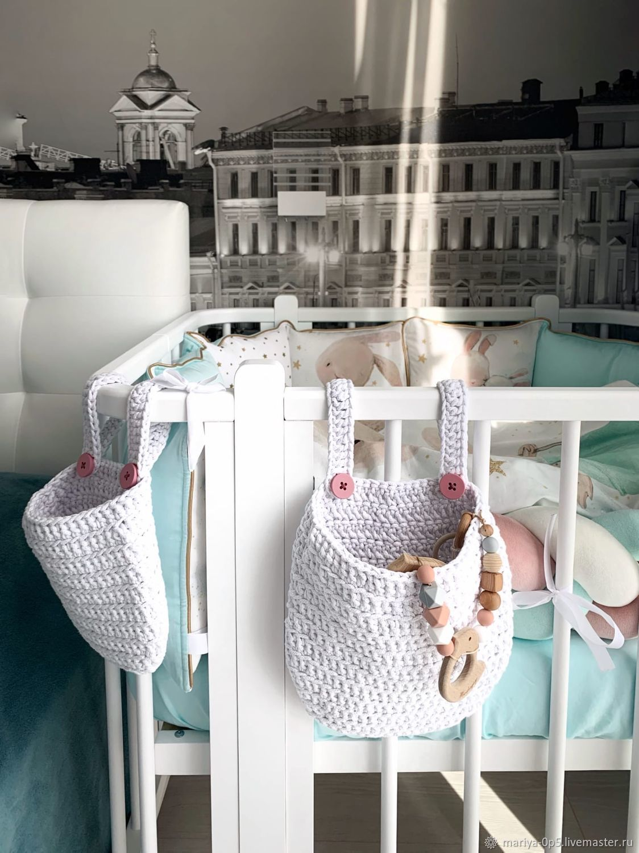 Комплект Навесные кармашки корзины на детскую кроватку, Корзины, Санкт-Петербург,  Фото №1