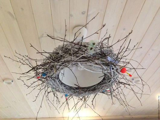 Освещение ручной работы. Ярмарка Мастеров - ручная работа. Купить Гнездо рыбака. Handmade. Белый, ткань, пластик
