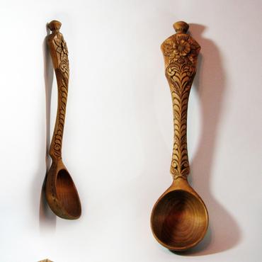 Для дома и интерьера ручной работы. Ярмарка Мастеров - ручная работа Черпак (ложка) деревянный Ромашка. Handmade.