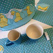 """Для дома и интерьера ручной работы. Ярмарка Мастеров - ручная работа Набор для кухни """"Веселые пингвины"""" 5 предметов. Handmade."""