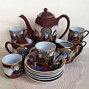 Винтаж handmade. Livemaster - original item Coffee set 15 PR Goddess Kannon Japan 60 years lithophane. Handmade.