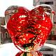 Подарки для влюбленных ручной работы. Сердце стеклянное. Марбл.. Татьяна Тунис (tunis). Интернет-магазин Ярмарка Мастеров. Сердце, сувенир