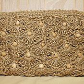 Сумки и аксессуары handmade. Livemaster - original item Knitted cosmetic bag made of jute. Handmade.