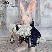 Куклы и игрушки handmade. Livemaster - original item White rabbit from Alice in Wonderland hare wool toy. Handmade.