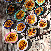 """Украшения ручной работы. Ярмарка Мастеров - ручная работа Подвеска """"Осенний Лист"""", Керамика.. Handmade."""