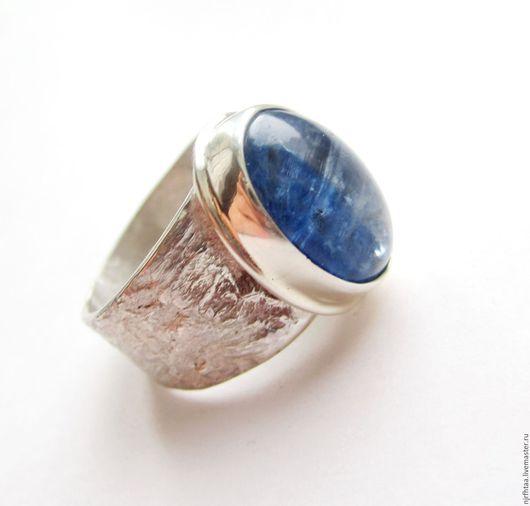 Кольца ручной работы. Ярмарка Мастеров - ручная работа. Купить КИАНИТ кольцо. Handmade. Синий, кольцо с кианитом