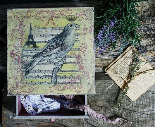 """Шкатулки ручной работы. Ярмарка Мастеров - ручная работа. Купить Шкатулка """"Vintage birds"""". Handmade. Шкатулка, старение, прованс"""