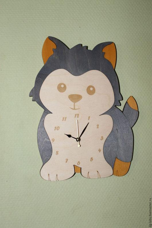 Часы для дома ручной работы. Ярмарка Мастеров - ручная работа. Купить Настенные часы Щенок. Handmade. Часы, детская