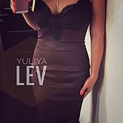 Одежда handmade. Livemaster - original item Slip dress chocolate YULIYA LEV. Handmade.