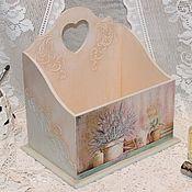 Для дома и интерьера ручной работы. Ярмарка Мастеров - ручная работа Короб Там, где цветет вереск. Handmade.