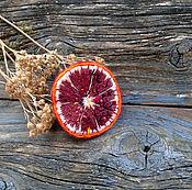 """Украшения ручной работы. Ярмарка Мастеров - ручная работа Брошь """"Спелый Грейпфрут"""". Handmade."""