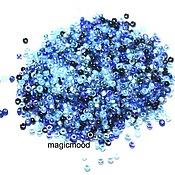 Материалы для творчества handmade. Livemaster - original item 10g Miyuki 15/0 MIX 02. blue Japanese beads Miyuki round mix. Handmade.