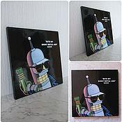 """Картины и панно ручной работы. Ярмарка Мастеров - ручная работа Картинка """"Бендер"""". Handmade."""